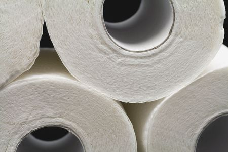 a lot of toilet papers on black background Stock Photo - 2740508