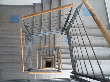 banisters: the spiral staircase with banisters