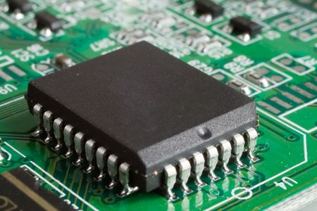thermistor: detail of computer circuit board