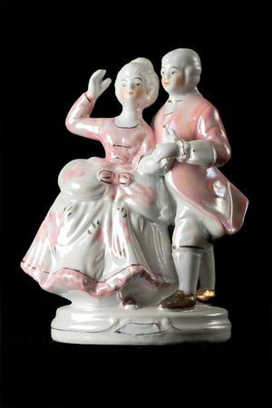 statuette from porcelain photo