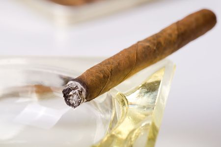 inhaled: the cuban cigar in ashtray