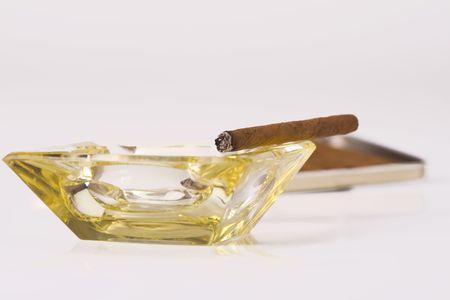 inhaled: cuban cigar Stock Photo