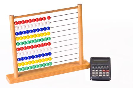 abacus and calculator Stock Photo - 3638561