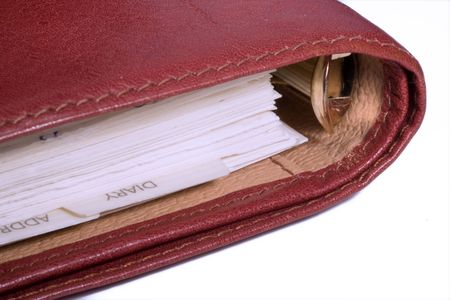closeup of a blank notebook Stock Photo - 3839872