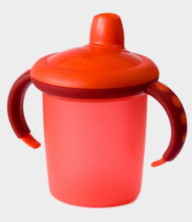 red baby sip cup photo