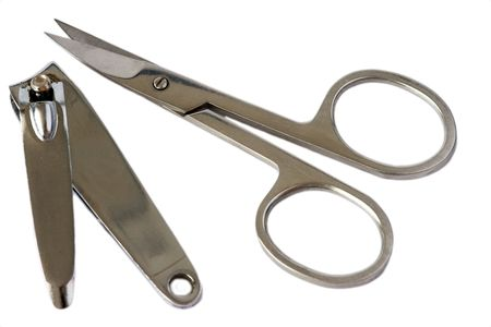 nail scissors: nail scissors and cutter Stock Photo