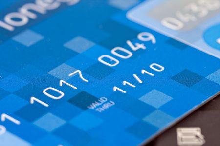 closeup of a credit card photo