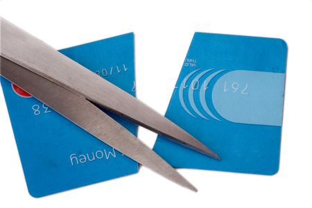 cut up credit card photo