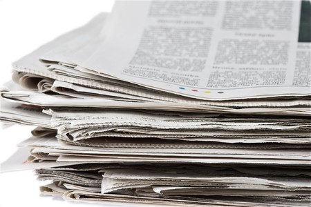 pile of newspaper Stock Photo - 3995734