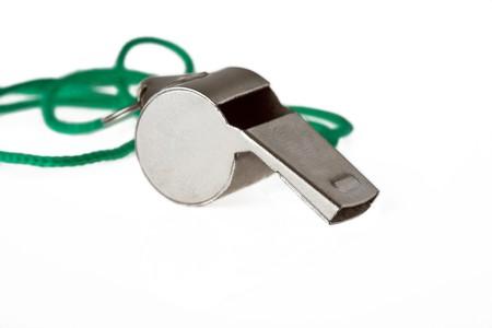 whistle isolated on white background photo