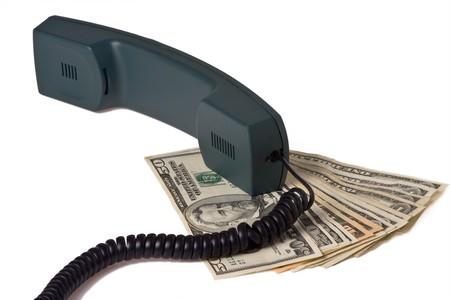telephone receiver and money Stock Photo - 4028556