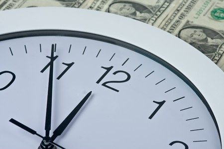 clock and money Stock Photo - 4091779