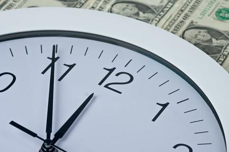 clock and money Stock Photo - 4091779
