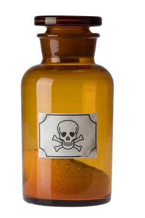 glass bottle of poison photo