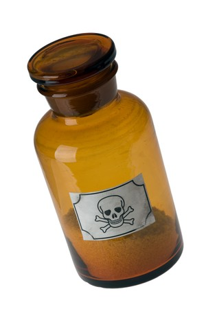 glass bottle of poison photo