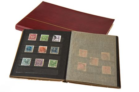 valuables: album with postage stamps