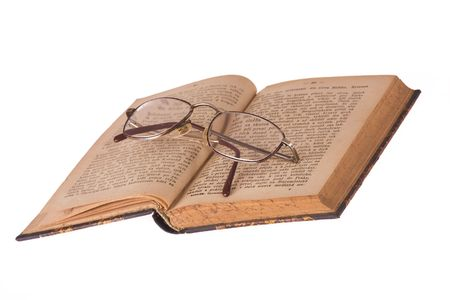 vintage glasses and old book Stock Photo - 4686181