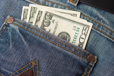 dollars in jeans pocket Stock Photo - 5050070