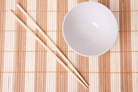 the empty bowl and chopsticks photo
