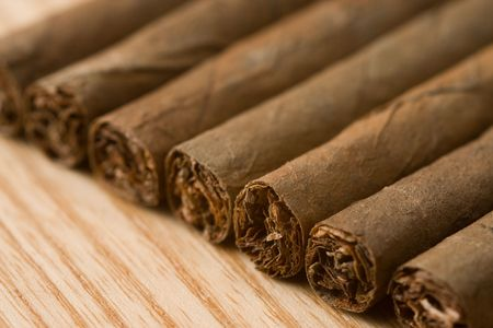 the detail of cuban cigar photo