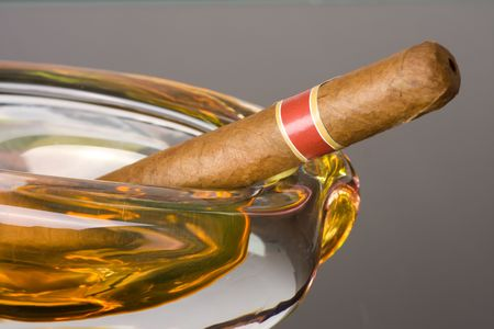 the cuban cigar in ashtray Stock Photo - 5396861