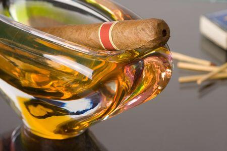 the cuban cigar in ashtray Stock Photo - 5396872