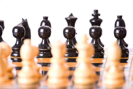 the chess on white background photo