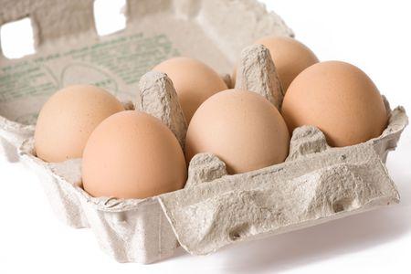 eggs in the paper egg carton Stock Photo - 5466130