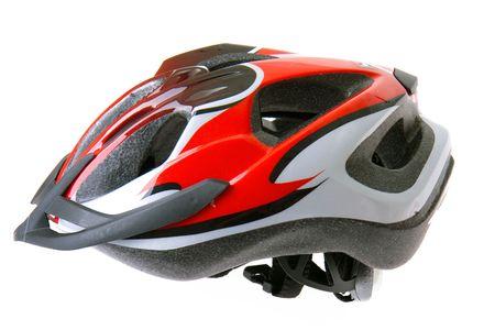bicycle helmet: bicycle helmet isolated on white background