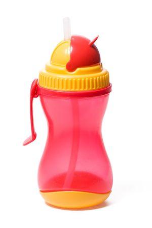 baby bottle isolated on white background photo