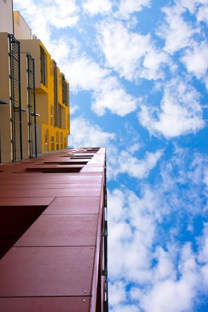 modern architecture and blue sky photo