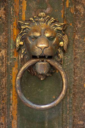 the lions head door knocker photo