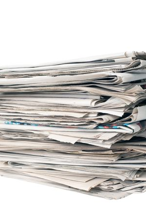 stack of newspapers isolated of white background Stock Photo - 5882082