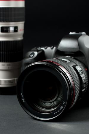 low key professional digital SLR camera Stock Photo - 5882079