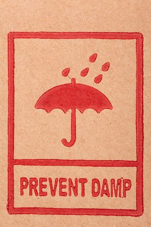 the safety symbols on cardboard photo