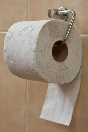 the toilet roll holder in bathroom Stock Photo - 5882179
