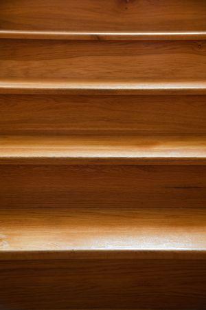 stair: de close-up van houten trap