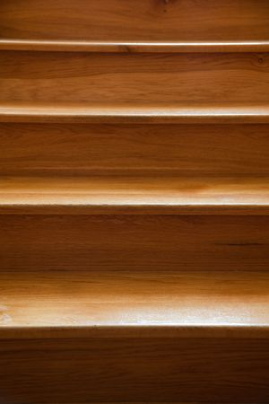 wooden stairs: the closeup of wooden stairs