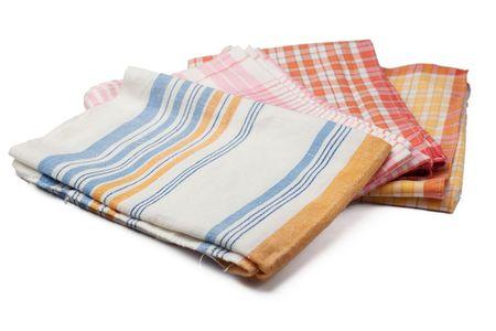 Küche-Handtücher auf weißen Hintergrund