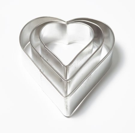 cookie cutters: cookie cutters on white background Stock Photo