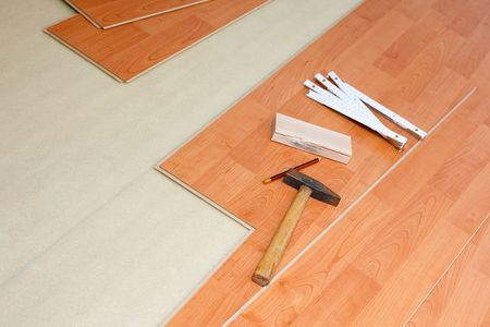 the wood flooring and tools photo