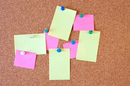 blank paper notes on cork board Stock Photo - 6050614