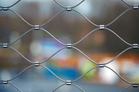 close up of wire fence Stock Photo - 6119063