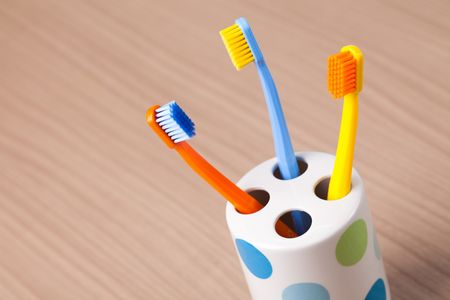 the photo shot of color toothbrushes Stock Photo - 6119121