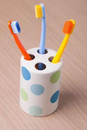 the photo shot of color toothbrushes Stock Photo - 6119128