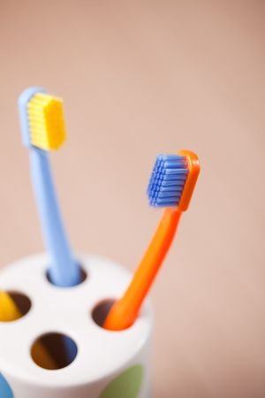 the photo shot of color toothbrushes Stock Photo - 6119131