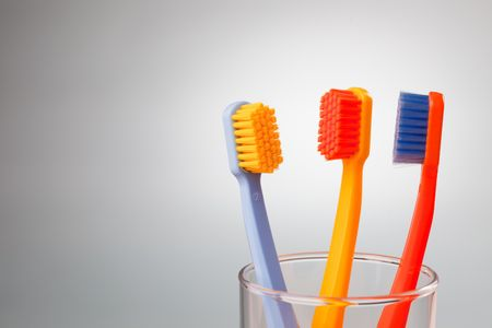 the photo shot of color toothbrushes Stock Photo - 6119149