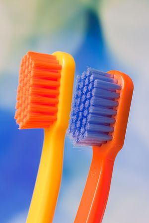 the photo shot of color toothbrushes Stock Photo - 6119126