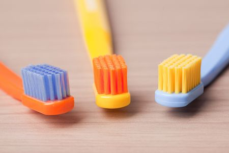 the photo shot of color toothbrushes Stock Photo - 6119140
