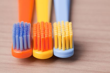 the photo shot of color toothbrushes Stock Photo - 6119142